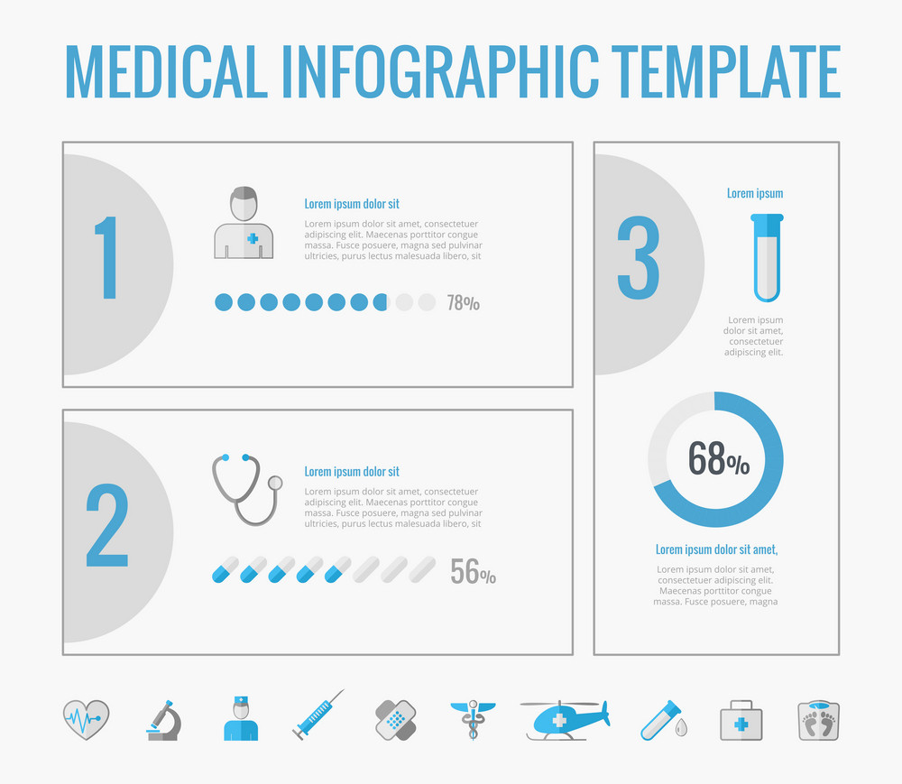 Disability Infographic Template. Vector Customizable Elements.