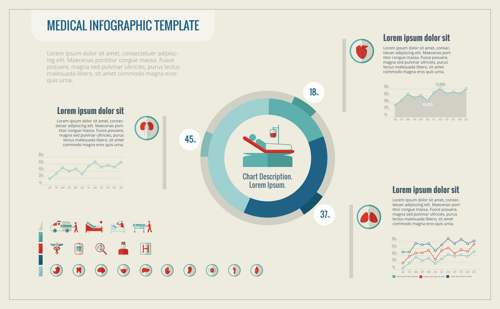 Emergency Infographic Template. Vector Customizable Elements.