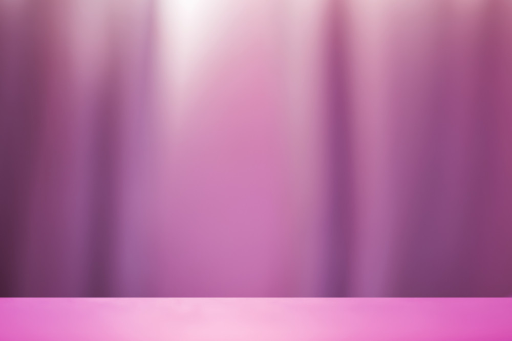 Empty stage with blur background of curtain wall soft purple color