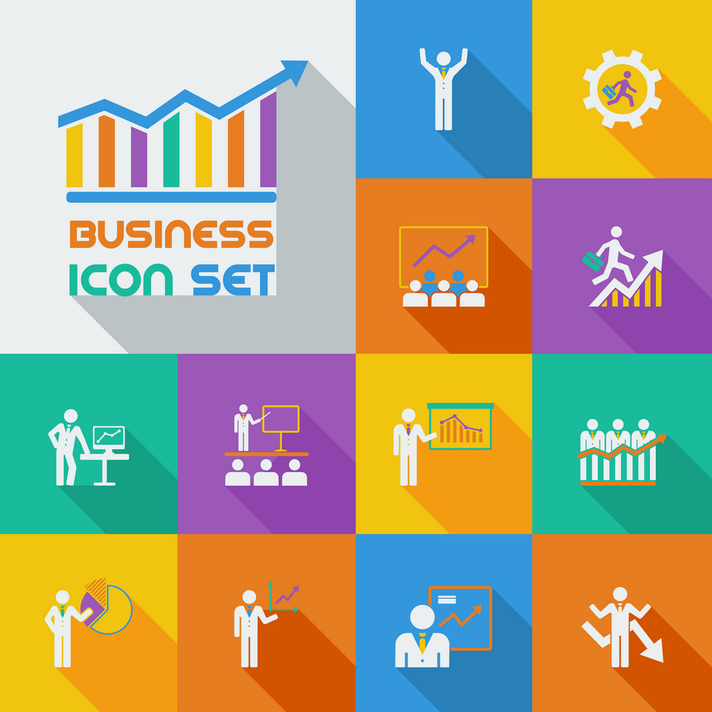 Flat Business Infographic Elements plus Icon Set. Vector.