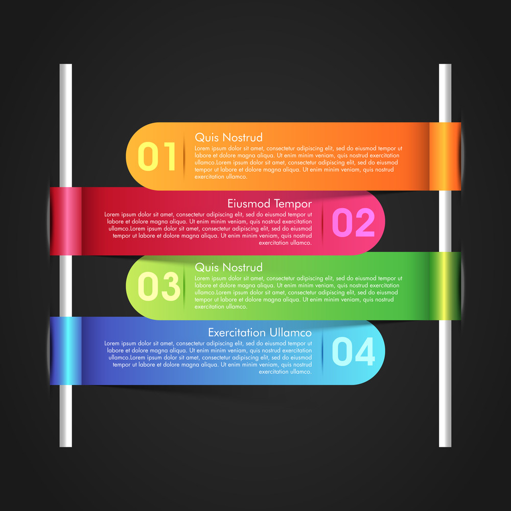 Glossy colorful infographic banners with numbers, Can be used for workflow layout, diagram, business reports and presentation.