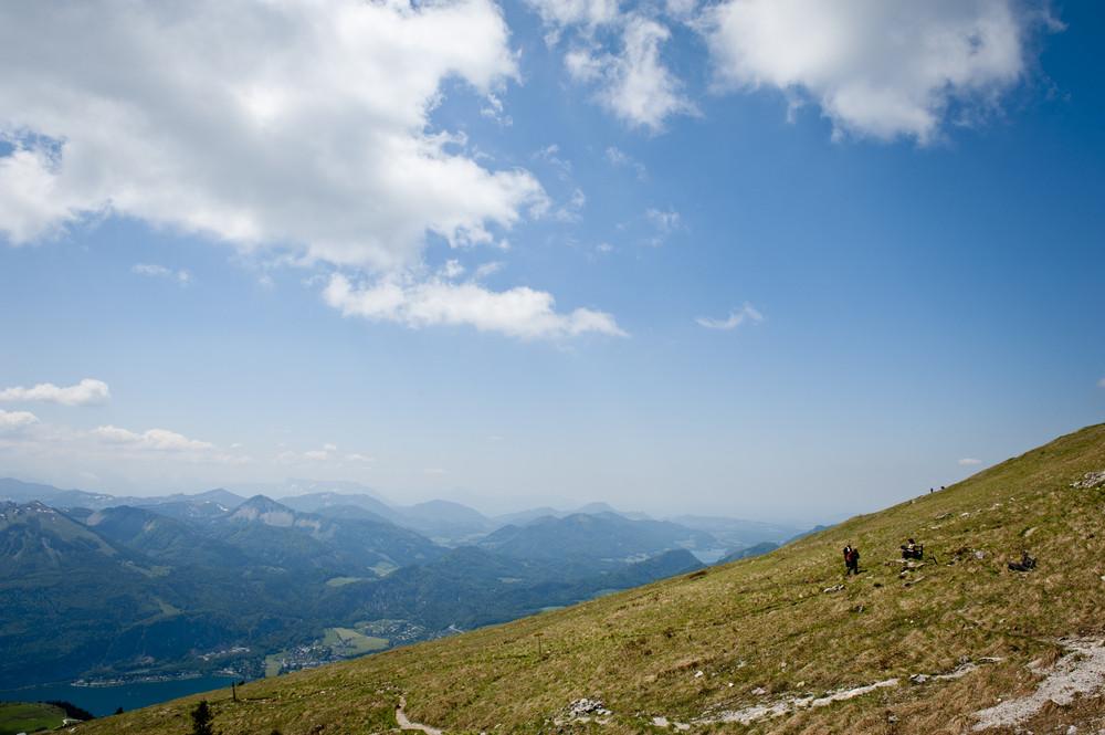 Grand mountains landscape under sky. Alps, Austria.