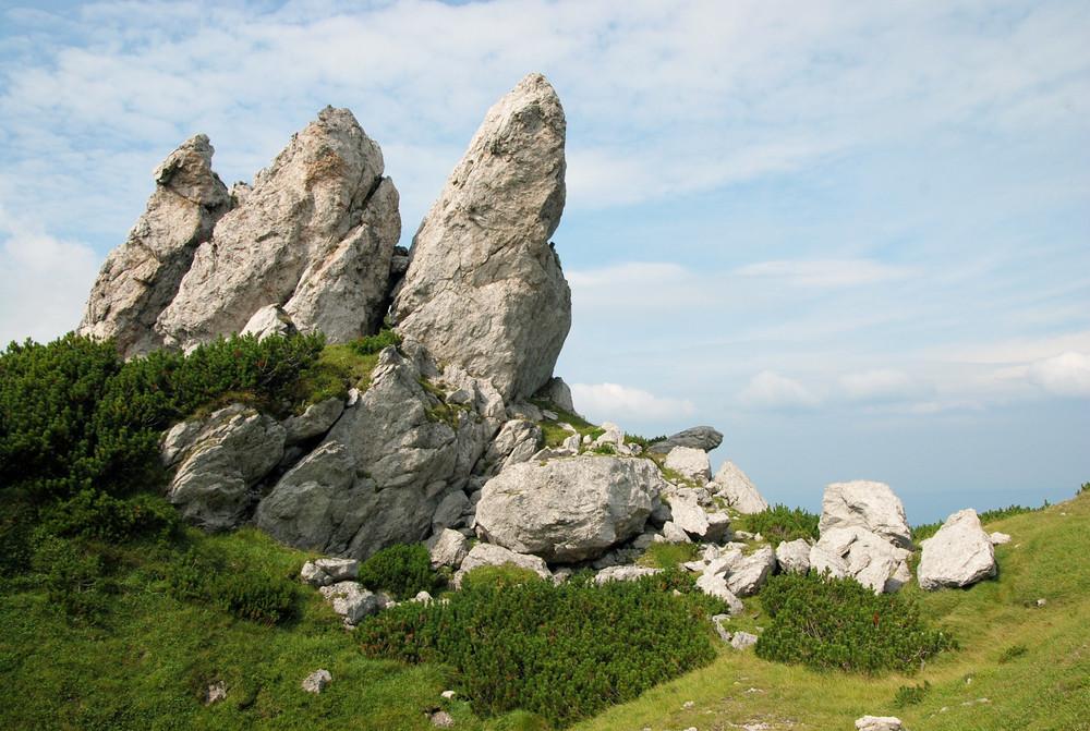 Grand mountains landscape under sky. Zuberec, Slovakia, Europe.
