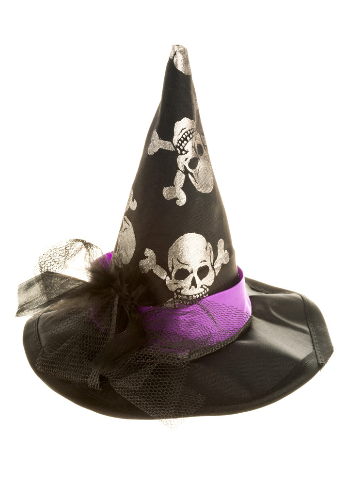 Image of Halloween hat over white background
