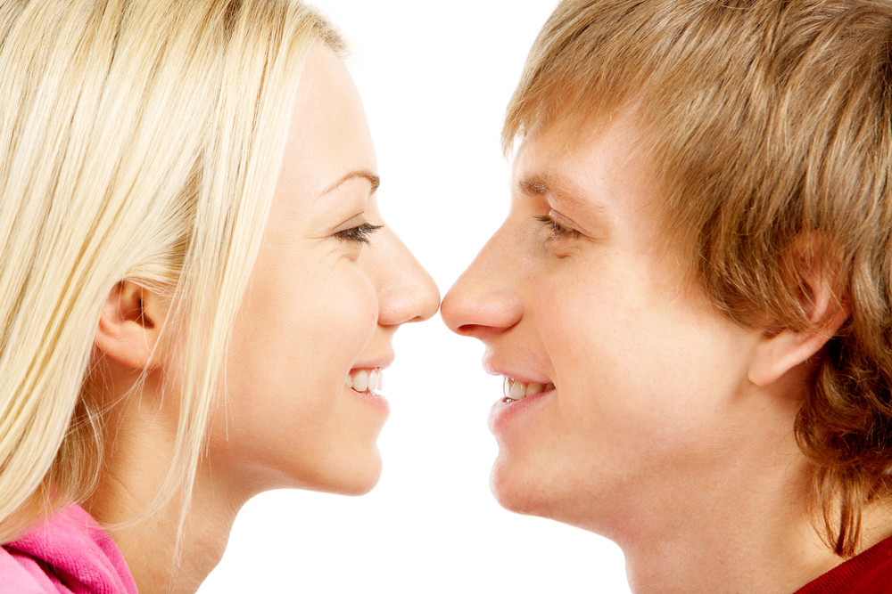 Image of lovely couple face to face