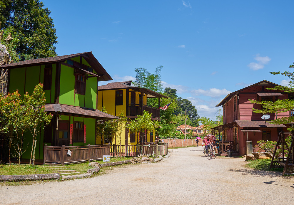 IPOH , MALAYSIA - Dec 31,2015 : Ipoh cultural village chinese traditional house located in Ipoh of Perak, cultural village is Ipoh latest tourist attraction near Gunung Rapat. Perak, Malaysia .