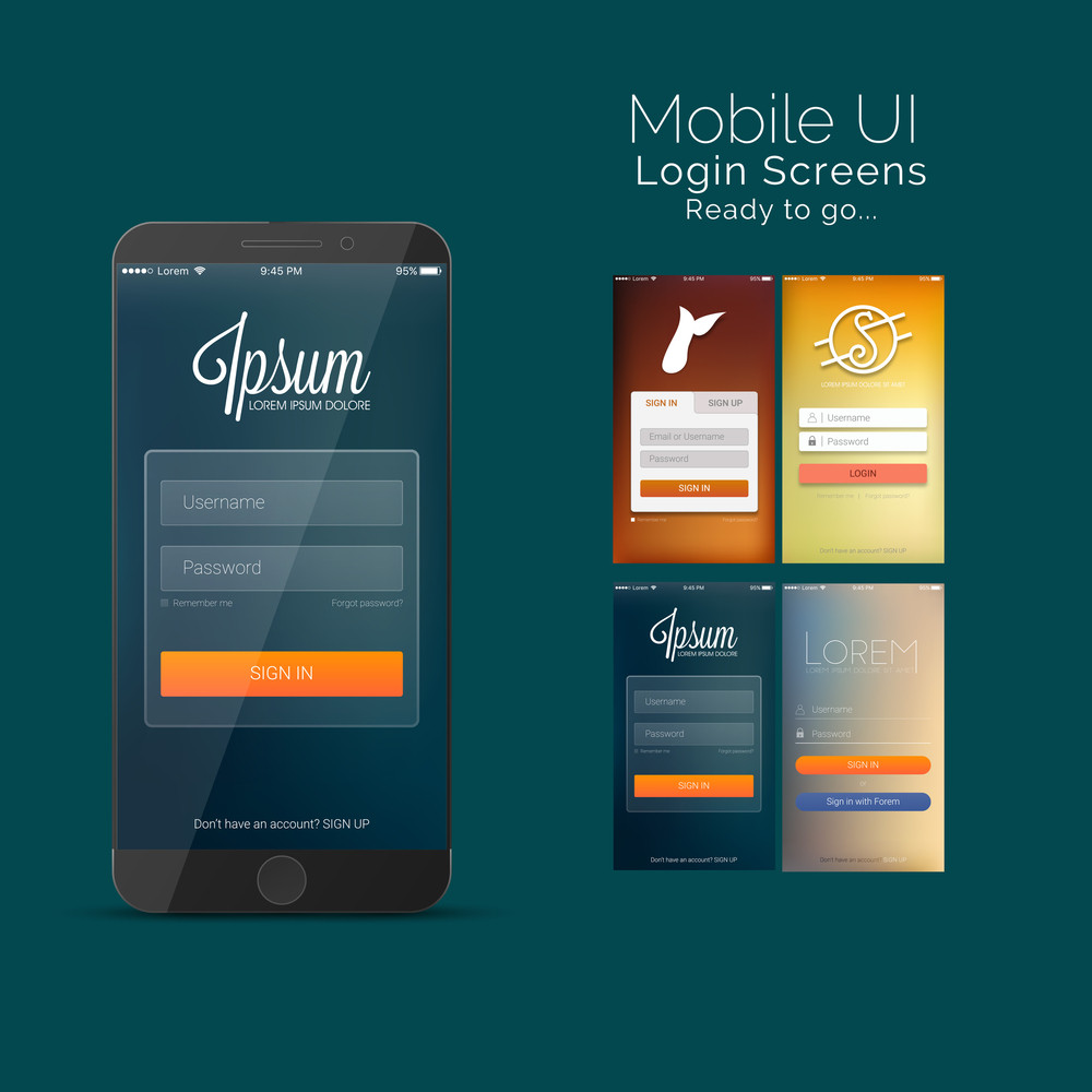 Mobile Sign In And Login Screens Material Design Ui Ux And Gui