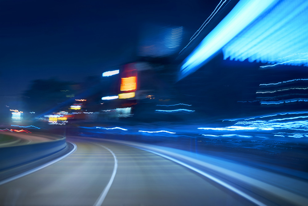 moving forward motion blur background,night scene