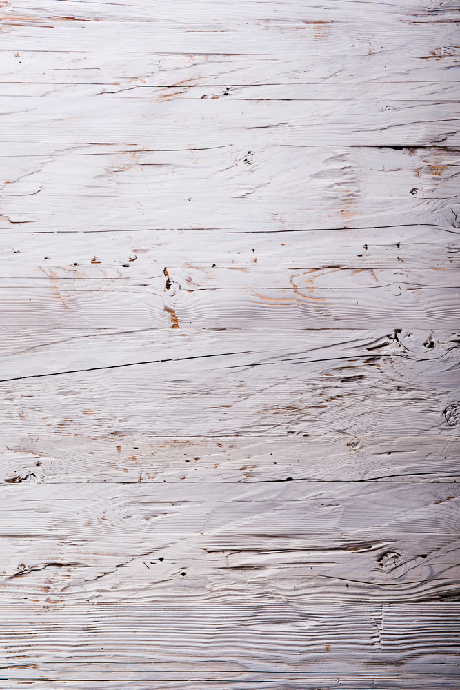 Old white wooden board background, plank with texture, empty copy space