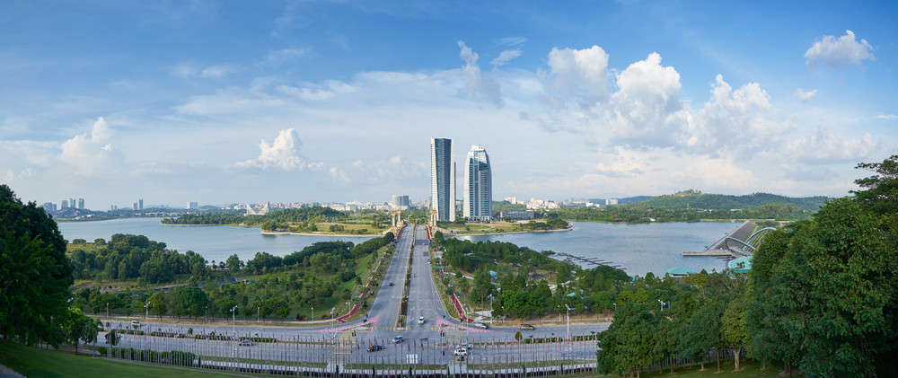 Paranoma View from the International Convention Centre in Putrajaya, Malaysia