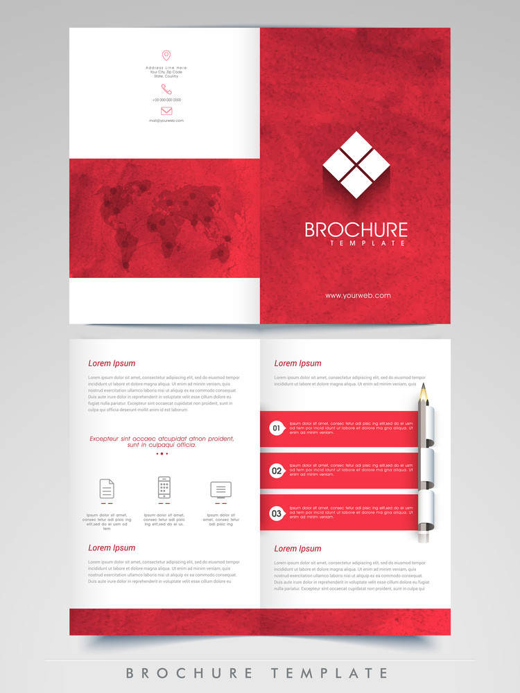 Professional Business Infographics Brochure Template Or Flyer