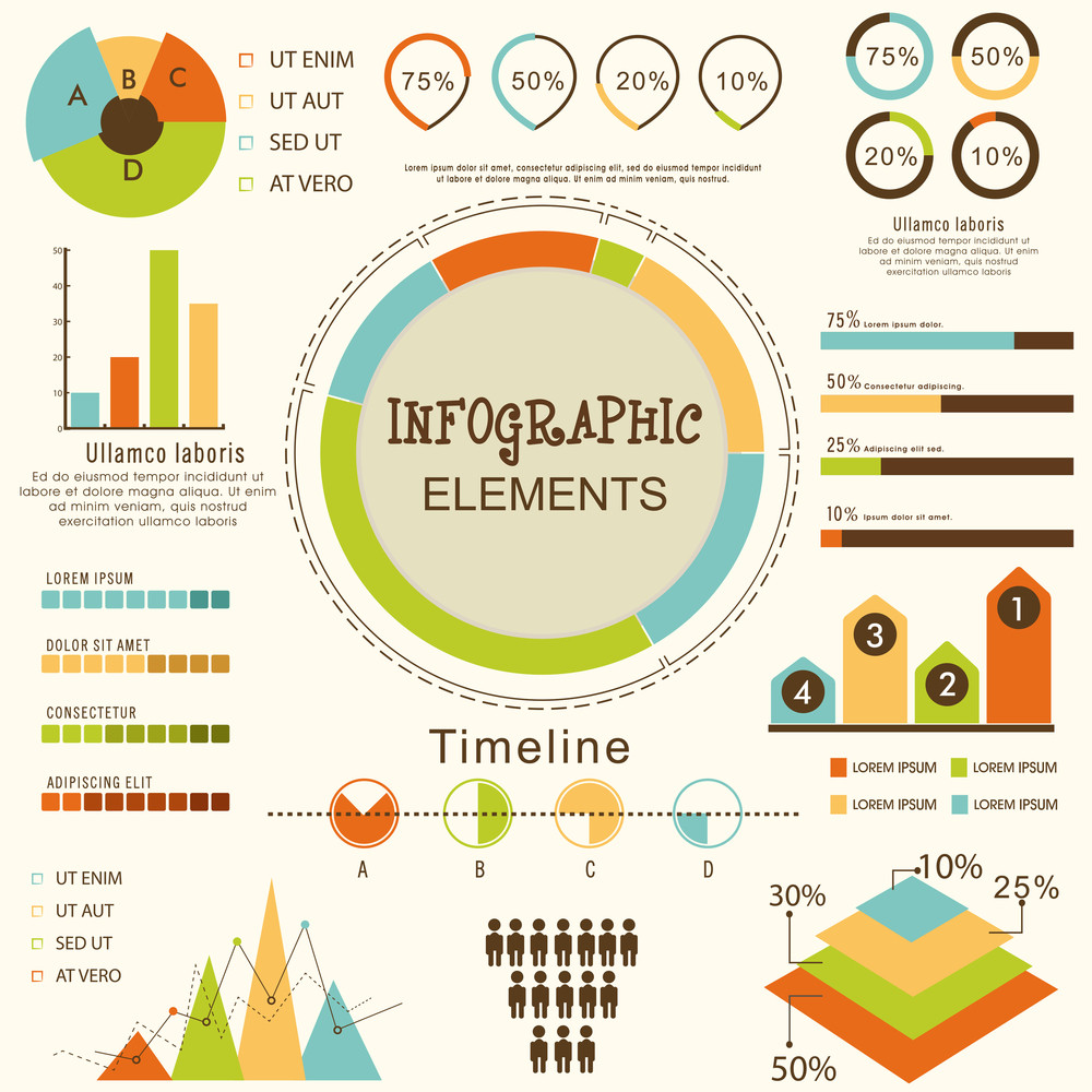 set of various statistical business infographic elements for your