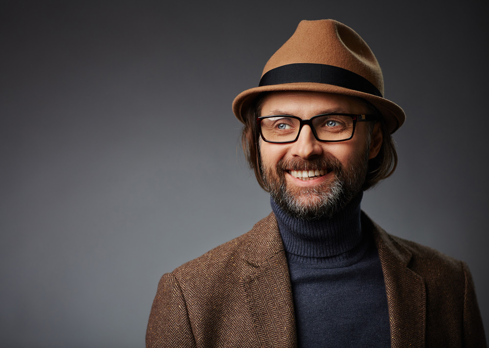 Smiling man in stylish casual-wear