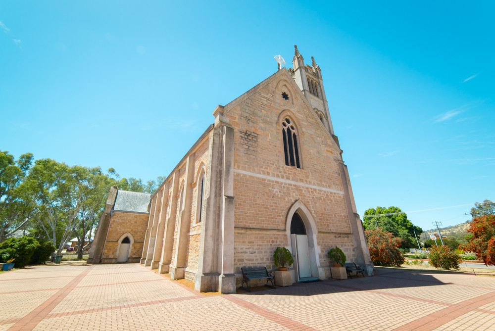 St. Patrick's Church in York Town .  York is the oldest inland town in Western Australia .