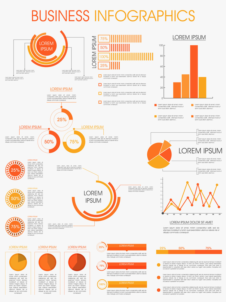 Stylish infographics template layout for business and for Sports infographics templates
