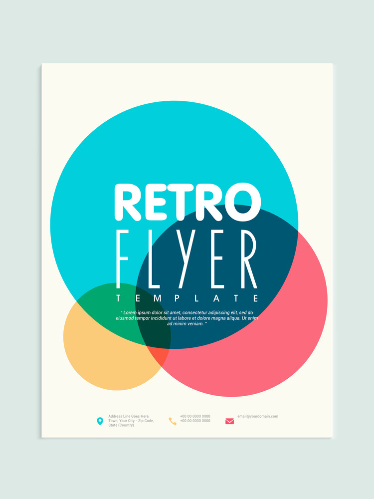 stylish retro flyer template or brochure design for business