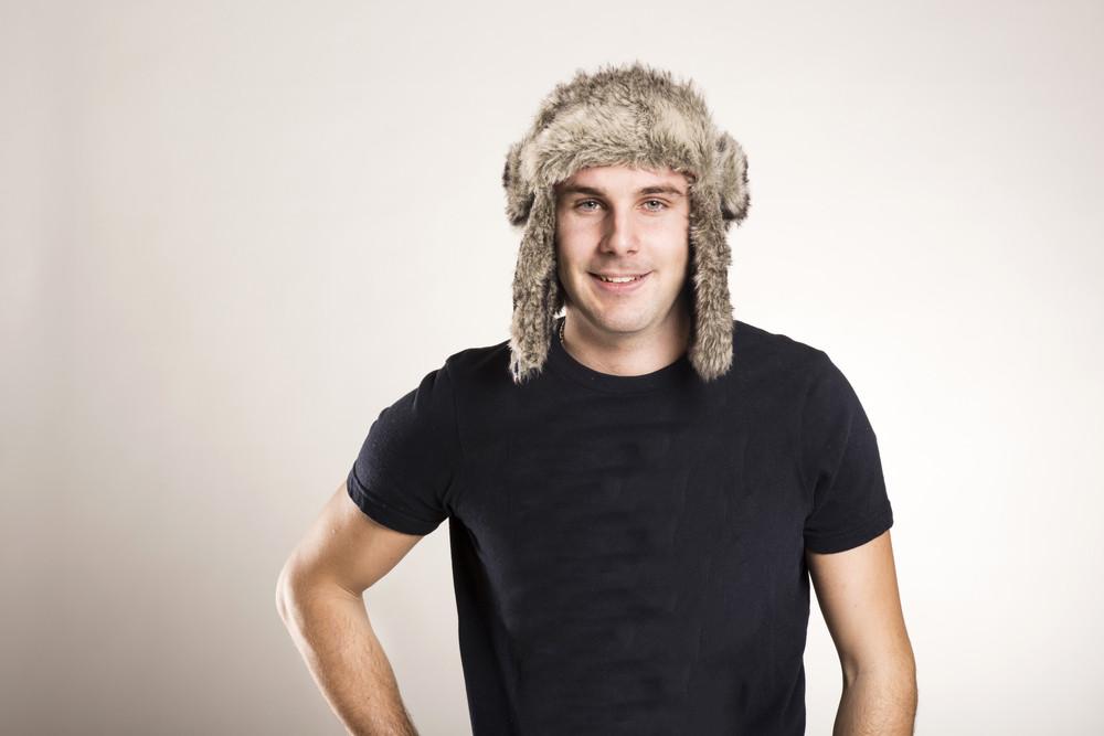 Stylish young man posing isolated on white background.