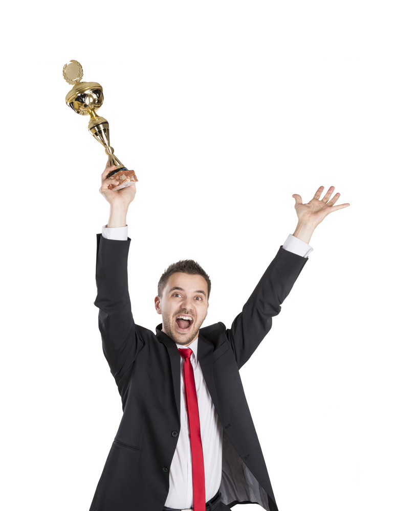 Successful Business Man Is Celebrating Success On Isolated White Background Royalty Free Stock Image Storyblocks