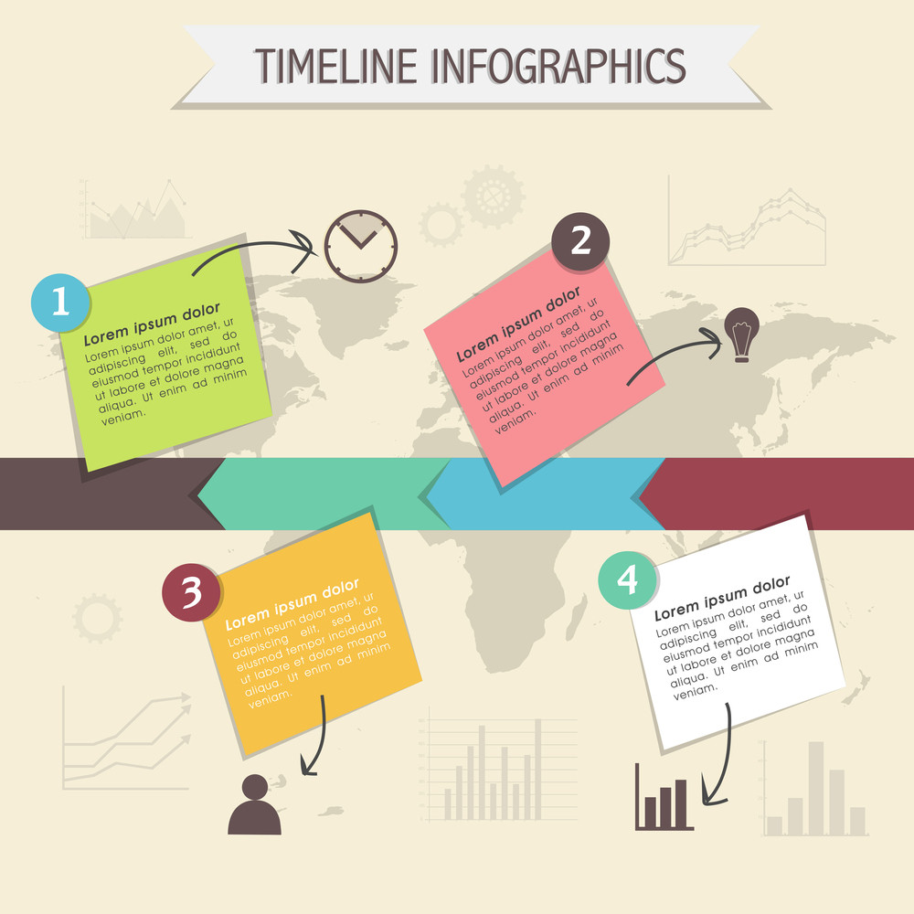 timeline infographic template layout with web symbols for business