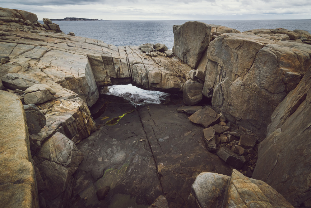 Torndirrup National Park, Natural Bridge, in The Great Southern - Albany, Western Australia. vintage toning  filter add .