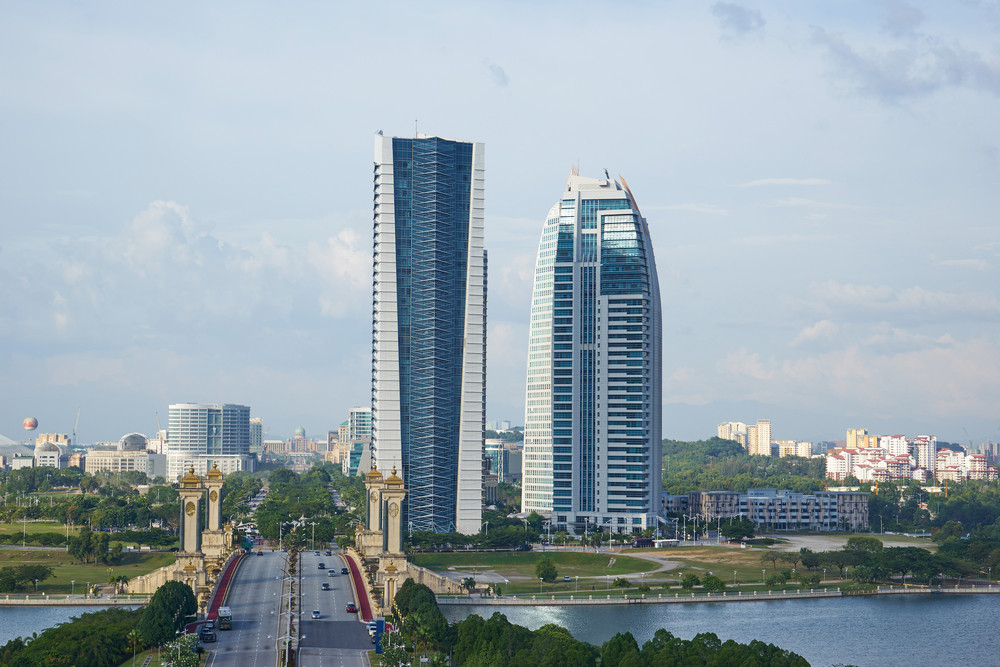View from the International Convention Centre in Putrajaya, Malaysia