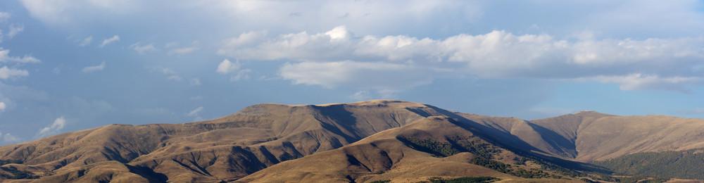 Wonderful landscape of Caucasian Mountains in Autumn