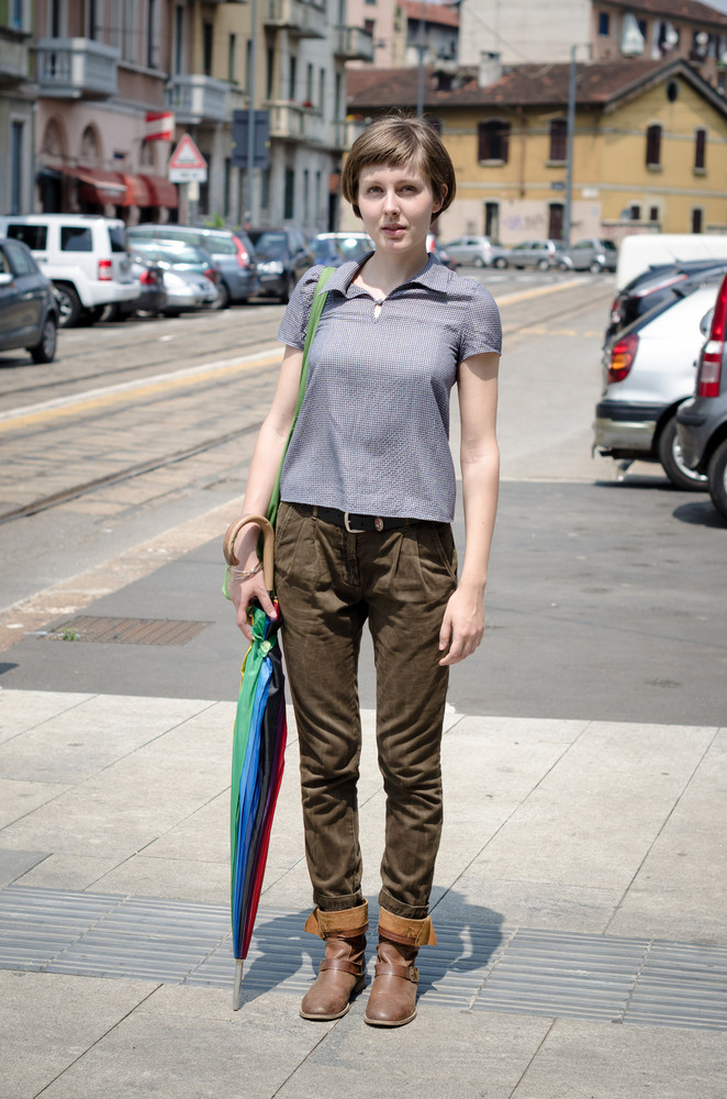 young beautiful hipster woman in the city