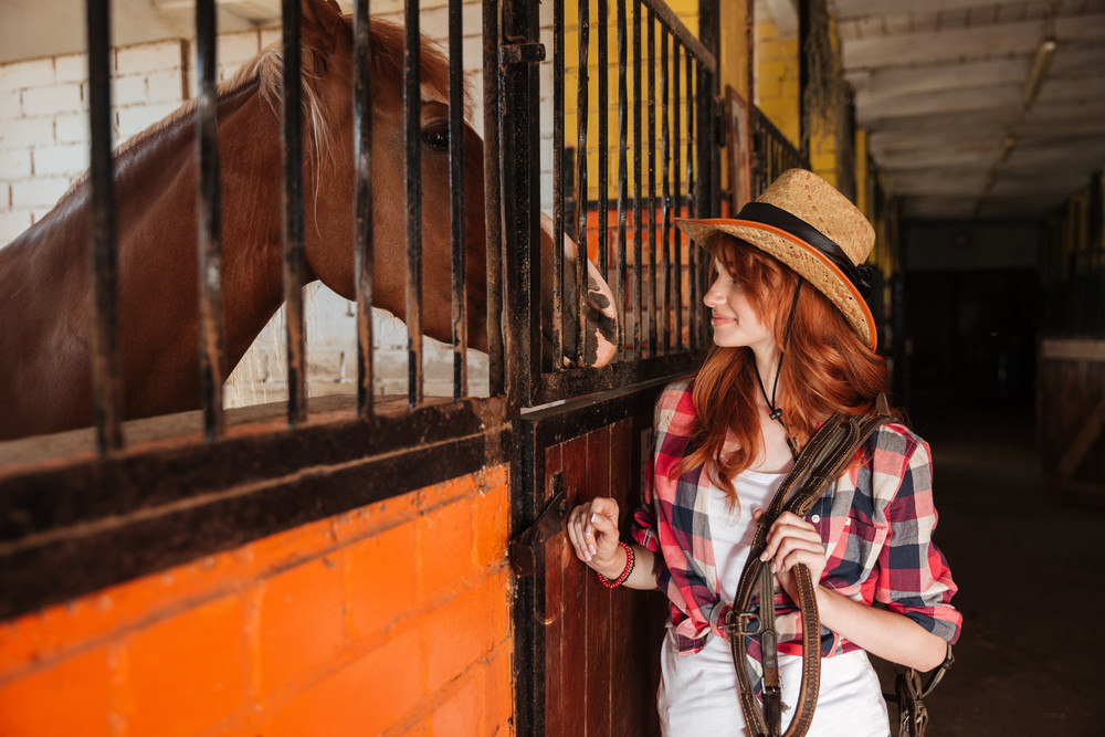 young woman cowgirl