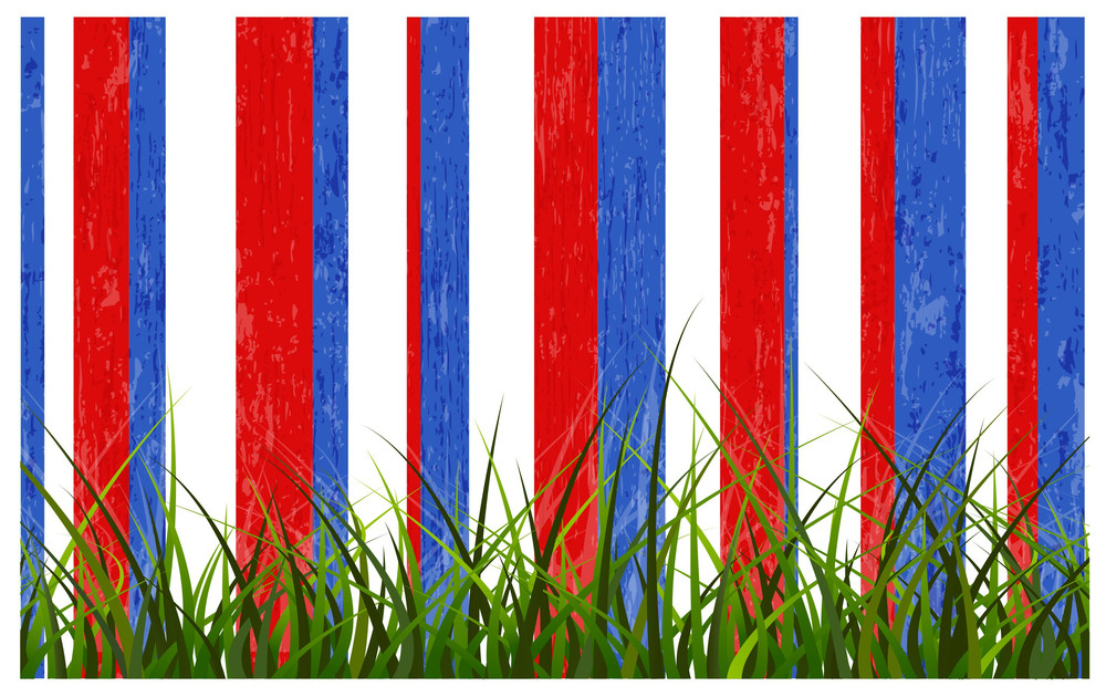 Grass Line Usa Independence Day Vector Theme Design