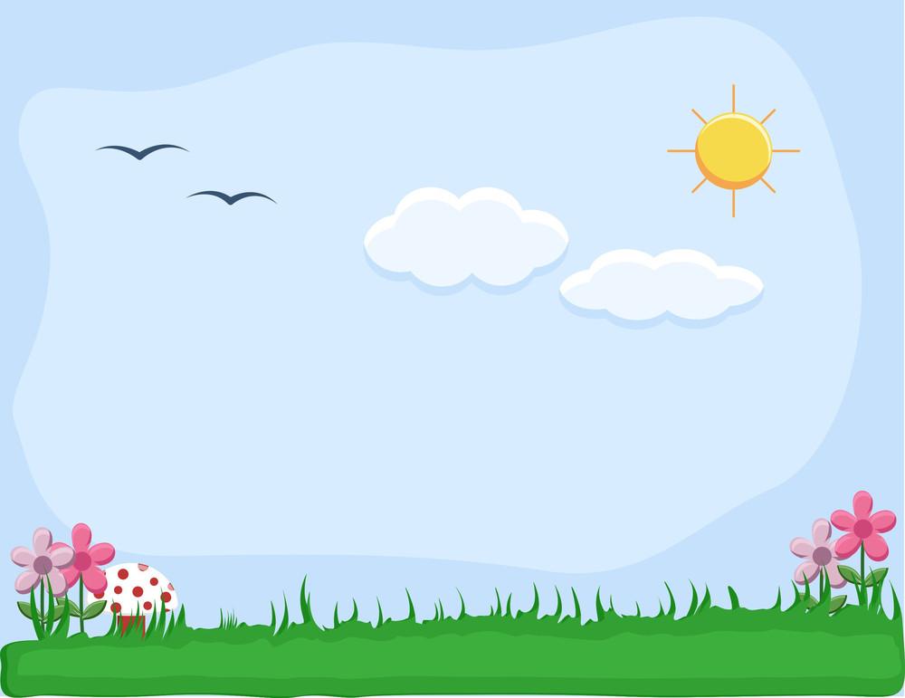 Grassline - Outdoor- Cartoon Background Vector