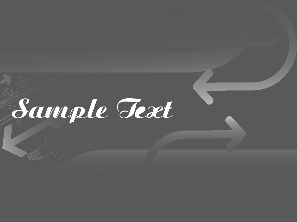 Gray Arrow Background With Place For Text
