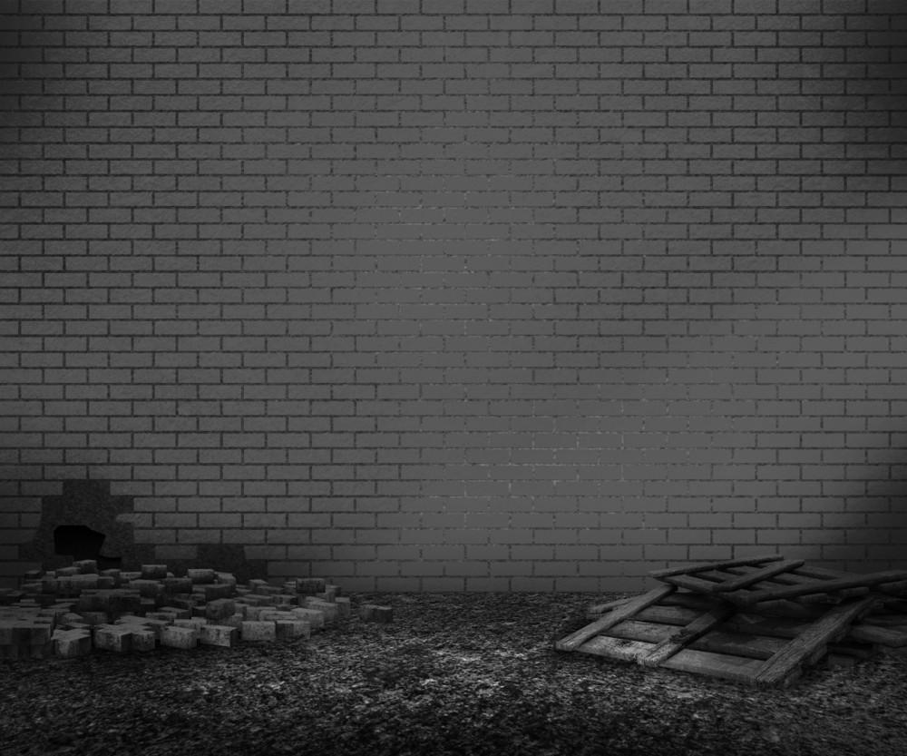 Gray Brick Backyard Background