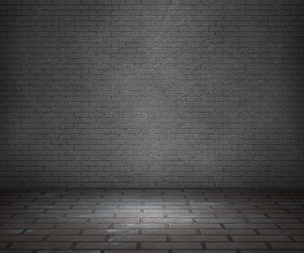 Gray Interior Room Brick Background