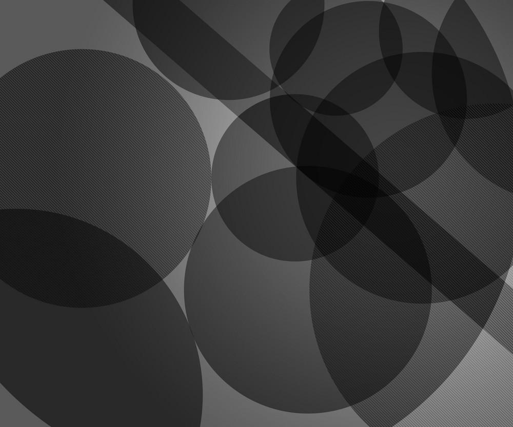 Gray Modern Circles Background