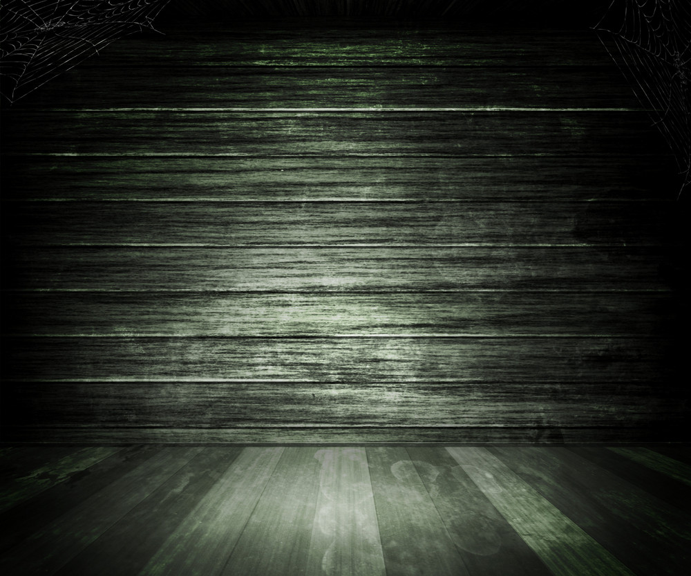 Gray Old Dark Wooden Room Background