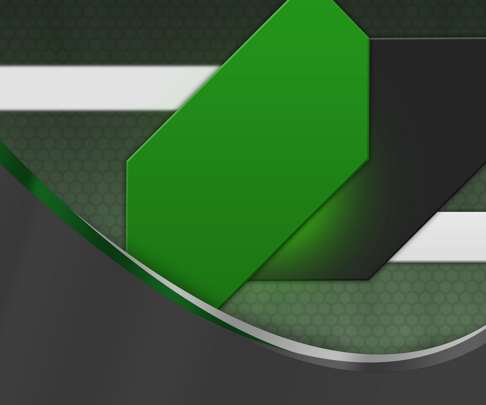 Gray Shapes Green Background