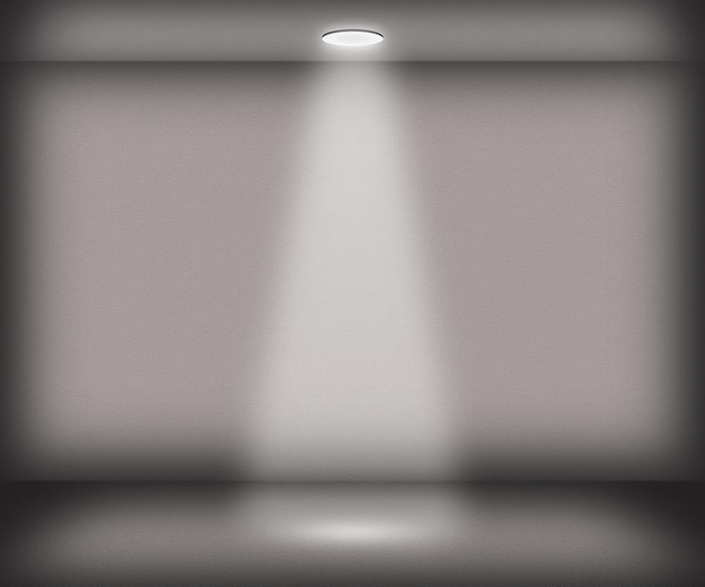 Gray Single Spotlight Room Background