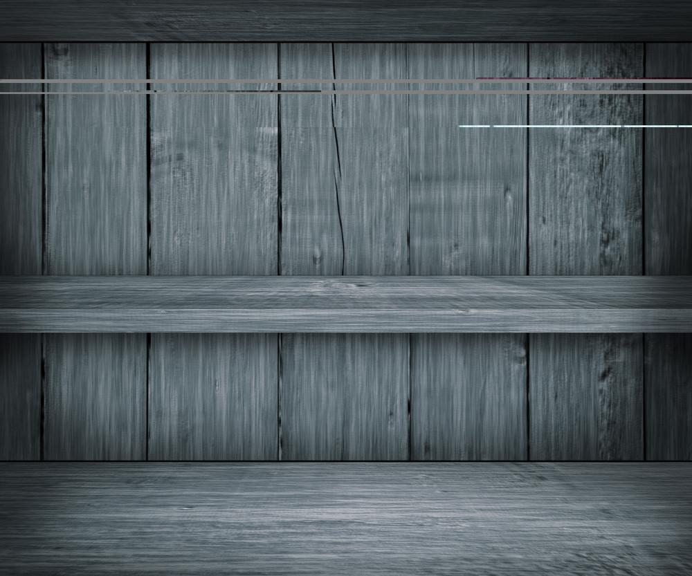 Gray Wooden Shelf Background