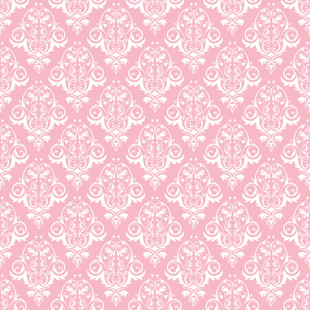 Pink And White Decorative Pattern