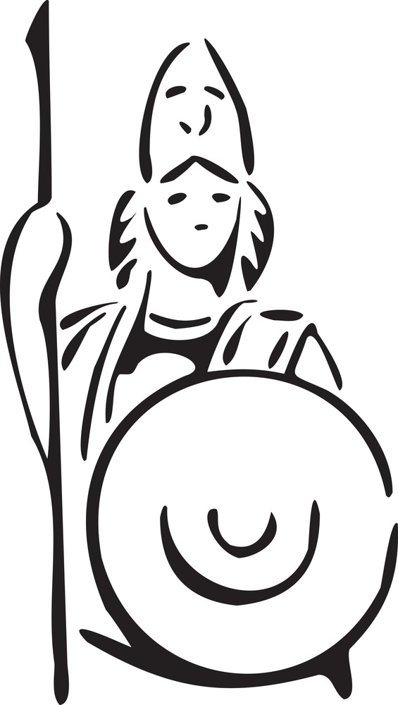 Greek Goddess Athena Of Greek Mythology.