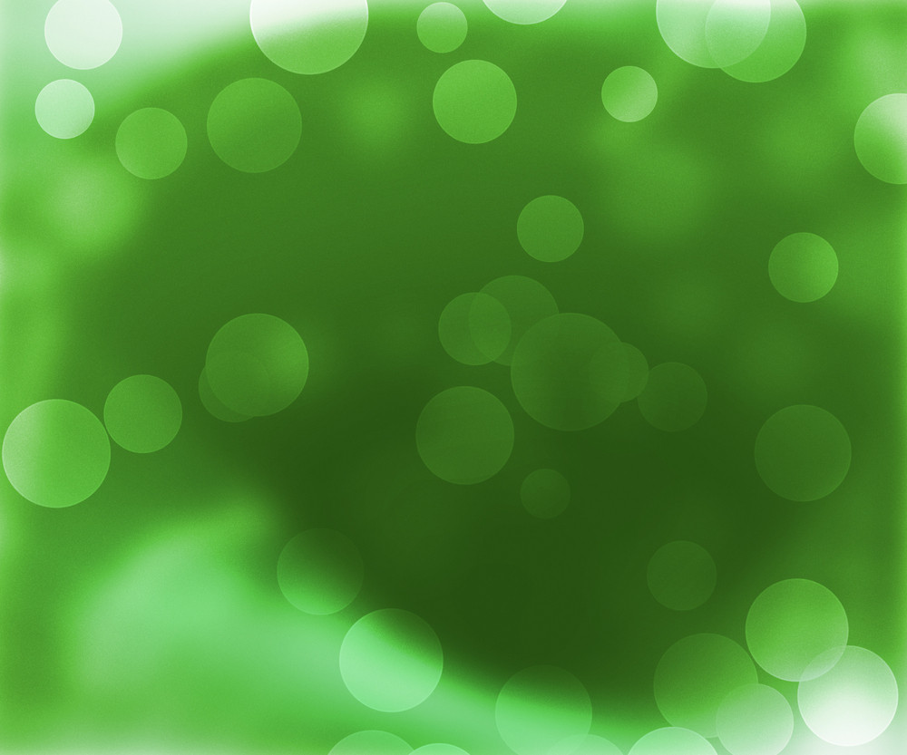 Green Abstract Bokeh Backdrop