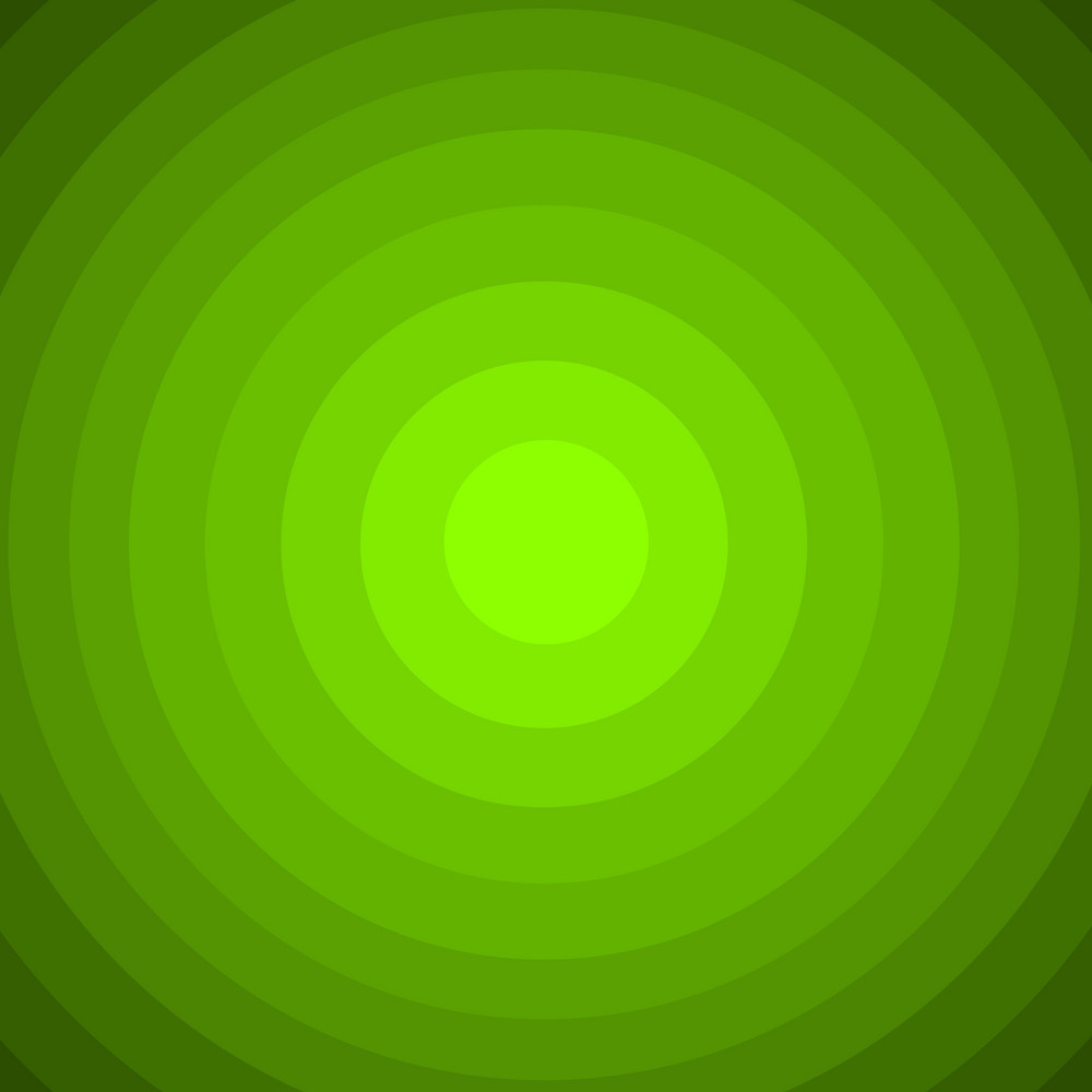 Green Abstract Circles Background