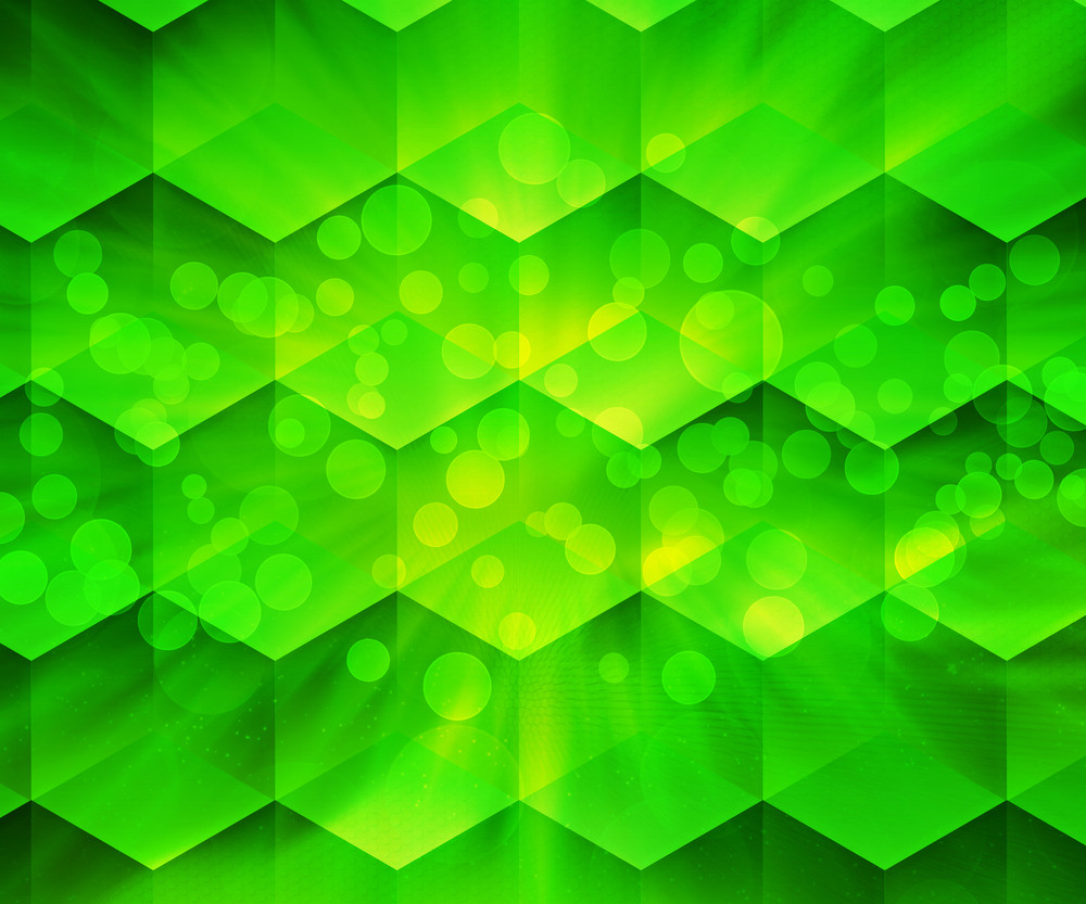 Green Abstract Hex Texture