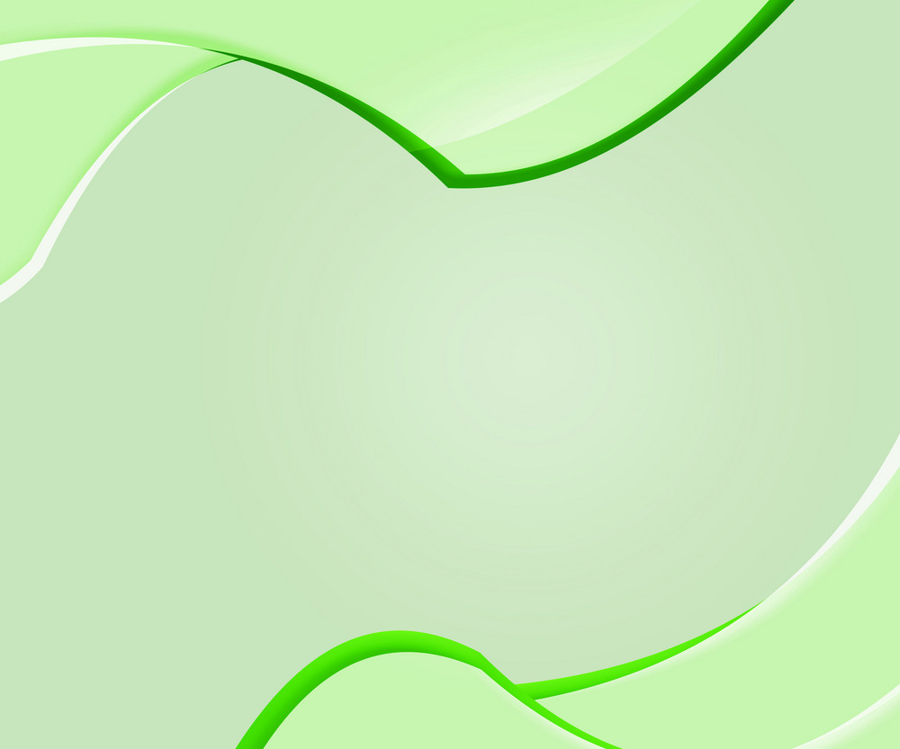 Green Abstract Shapes Clean Background