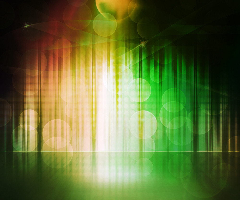 Green Abstract Stage Background