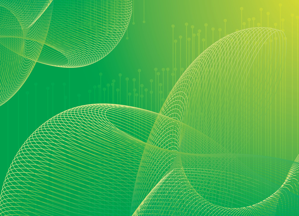 Green Abstract Vector Background.
