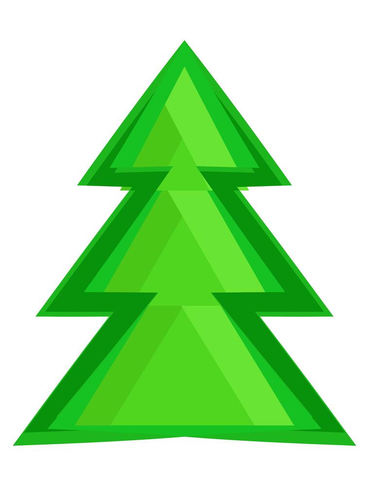 Green Abstract Xmas Tree Design