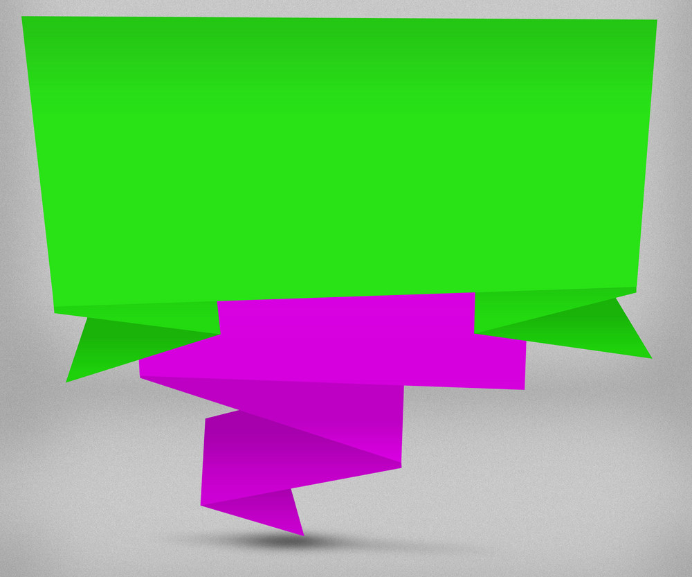 Green And Violet Origami