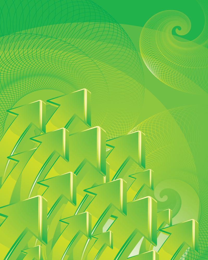 Green Arrow Vector Background.