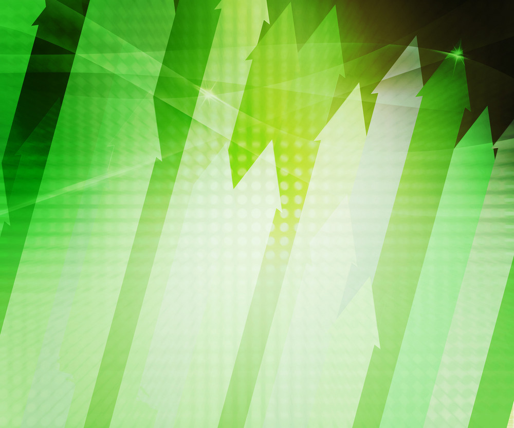 Green Arrows Abstract Background